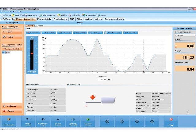 EVOVIS用於粗度和輪廓的量測軟體